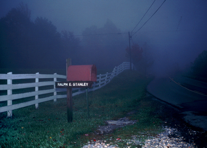 The road to Ralph Stanley's house, Coeburn, Virginia, 1991, photograph by Alan Govenar