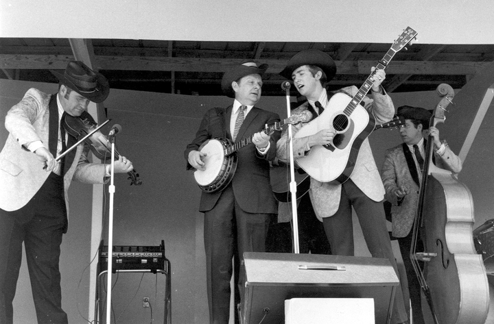 Ralph Stanley (center playing banjo), courtesy Ralph Rinzler Folklife Archives and Collections, Center for Folklife and Cultural Heritage, Smithsonian Institution