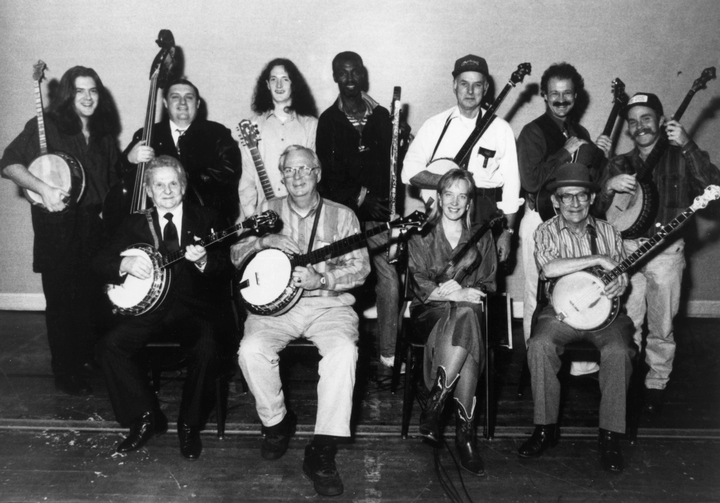 Ralph Stanley (first row, far left), old-time banjo player Will Keys (first row, far right), courtesy National Endowment for the Arts
