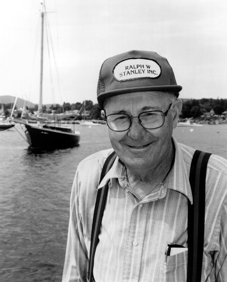 Ralph W. Stanley of Southwest Harbor, Maine, has built a wide range of boats, from small sailboats to large offshore lobster boats and pleasure craft. Photograph by Craig S. Milner, courtesy National Endowment for the Arts