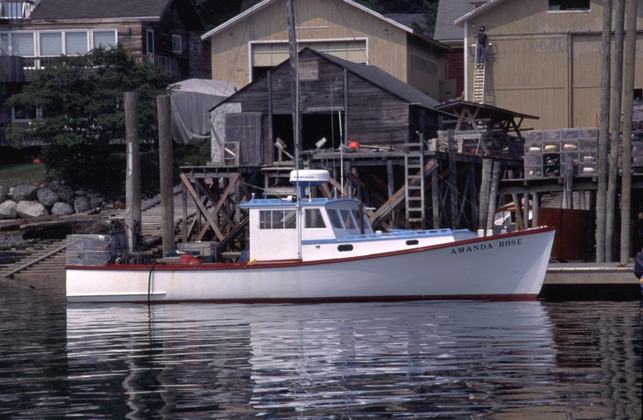 The 36-foot lobster boat 'Amanda Rose' built by Ralph W. Stanley, Southwest Harbor, Maine, 1998, photograph by Peggy McKenna, courtesy National Endowment for the Arts