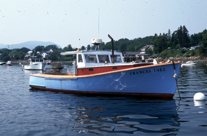 The 37-foot lobster boat 'Frances Inez' built by Ralph W. Stanley, Southwest Harbor, Maine, 1998, photograph by Peggy McKenna, courtesy National Endowment for the Arts