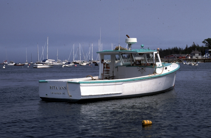 "Pleasure boat (""lobster yacht"") 'Rita Ann' built by Ralph W. Stanley, Southwest Harbor, Maine, 1998, photograph by Peggy McKenna, courtesy National Endowment for the Arts"