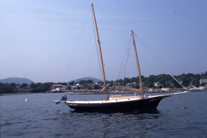 The 28-foot schooner 'Equinox' built by Ralph W. Stanley, Southwest Harbor, Maine, 1998, photograph by Peggy McKenna, courtesy National Endowment for the Arts