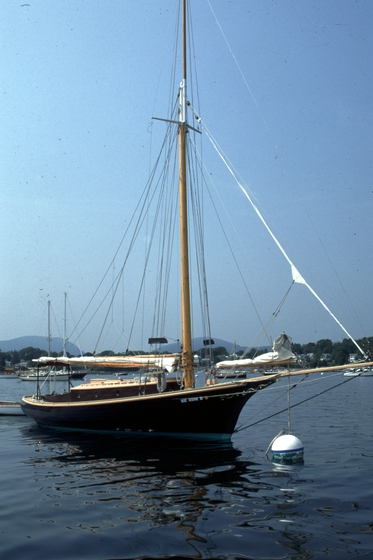 The 33-foot Friendship sloop 'Hieronymus' built by Ralph W. Stanley, Southwest Harbor, Maine, 1998, photograph by Peggy McKenna, courtesy National Endowment for the Arts