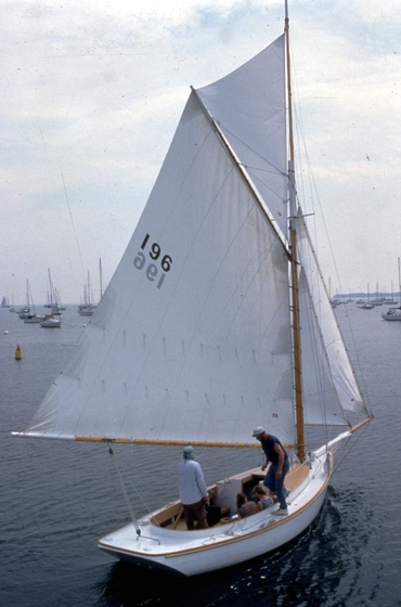 The 25-foot Friendship sloop 'Hieronymus' built by Ralph W. Stanley, Southwest Harbor, Maine, 1998, photograph by Peggy McKenna, courtesy National Endowment for the Arts