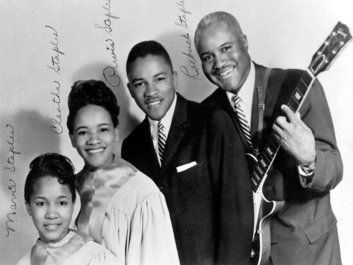 "Roebuck ""Pops"" Staples and his family gospel group, the Staple Singers, had several hits in a recording career that spanned more than two decades. Later he made solo records with a strong blues feeling. Courtesy African American Museum of Dallas, Texas"