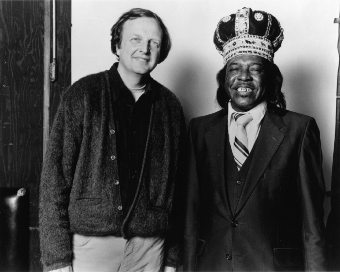 Chris Strachwitz and Clifton Chenier, the King of Zydeco, courtesy Chris Strachwitz