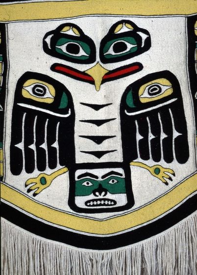 Eagle Crest blanket (detail) by Jennie Thlunaut,  courtesy National Endowment for Arts