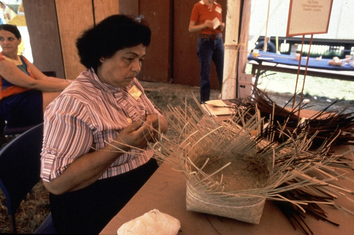 Ada Thomas at work, courtesy National Endowment for the Arts