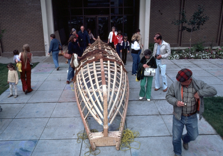 Paul Tiulana, skin boat project, courtesy Alaska State Council on the Arts