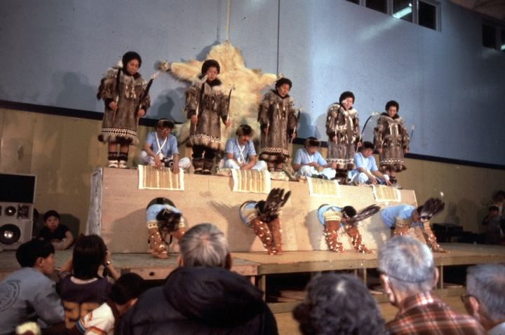 Inupiat King Island Wolf Dance, 1982, courtesy National Endowment for the Arts and Alaska State Council on the Arts