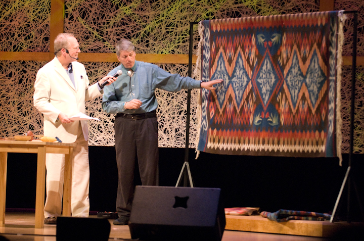 Irvin L. Trujillo and Nicholas R. Spitzer, 2007 National Heritage Fellowship Concert, Bethesda, Maryland, photograph by Alan Hatchett