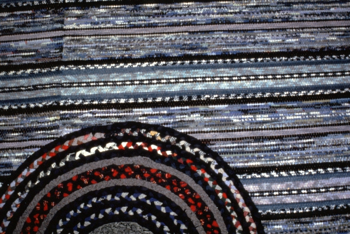 Braided throw rug on woven carpet (detail) by Dorothy Trumpold, East Amana, Iowa, courtesy National Endowment for the Arts