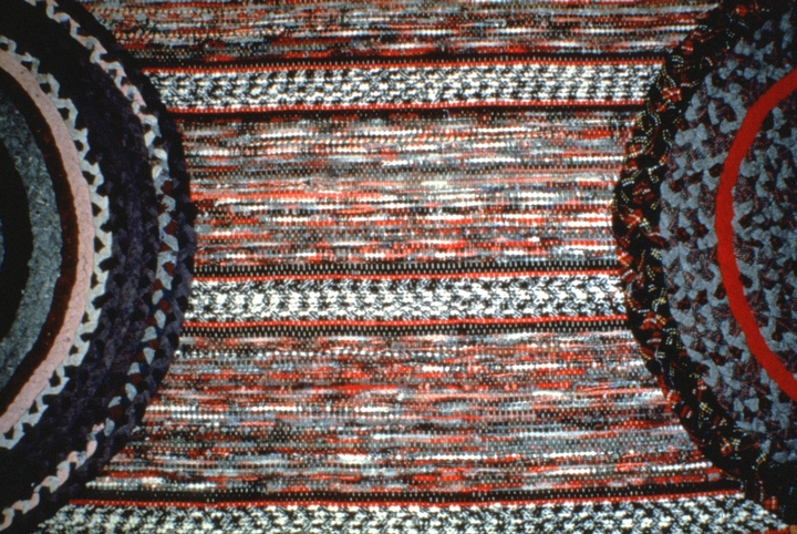 Braided throw rugs on woven carpet (detail) by Dorothy Trumpold, East Amana, Iowa, courtesy National Endowment for the Arts