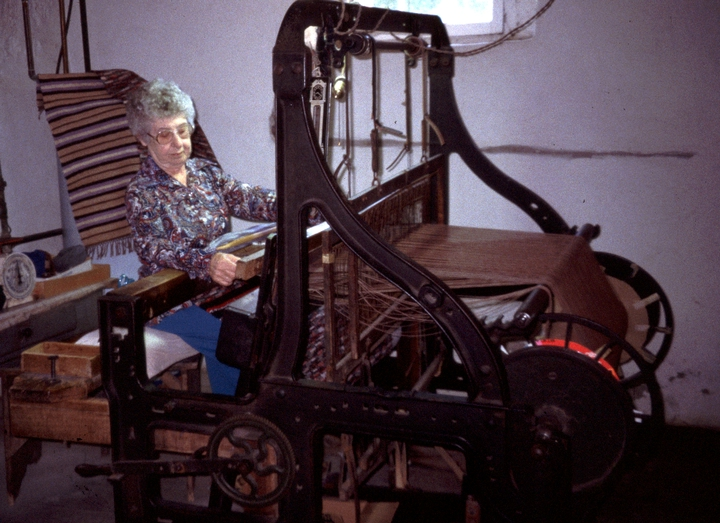 Dorothy Trumpold at her loom, East Amana, Iowa, 1987, Courtesy National Endowment for the Arts