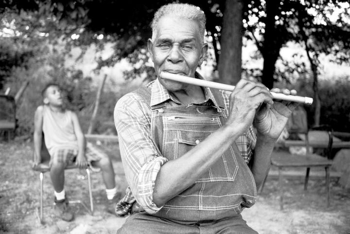 Othar Turner, Senatobia, Mississippi, 1993, photograph by Nicholas R. Spitzer