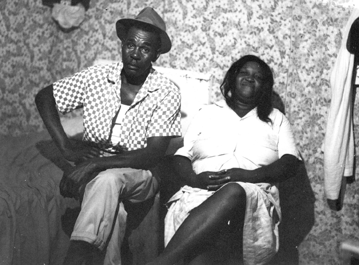 Othar Turner and his wife, Ada, Senatobia, Mississippi, 1970, photograph by David Evans