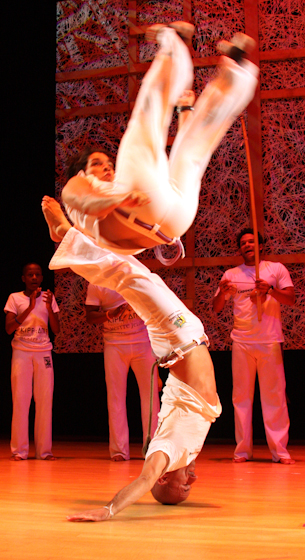 Jelon Vieira and members of his company DanceBrazil, 2008 National Heritage Fellowship Concert, Bethesda, Maryland, courtesy National Endowment for the Arts, photograph by Michael G. Stewart