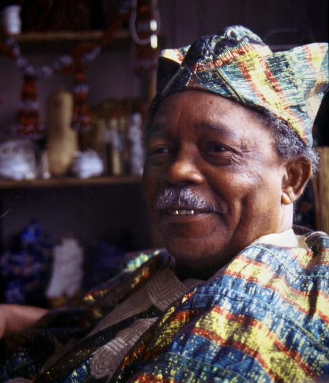 Felipe García Villamil, born into a family rich in Afro-Cuban tradition, became one of the best Cuban drummers. He also crafts beautiful ceremonial objects and is deeply knowledgeable about the healing properties of plants. Courtesy National Endowment for the Arts