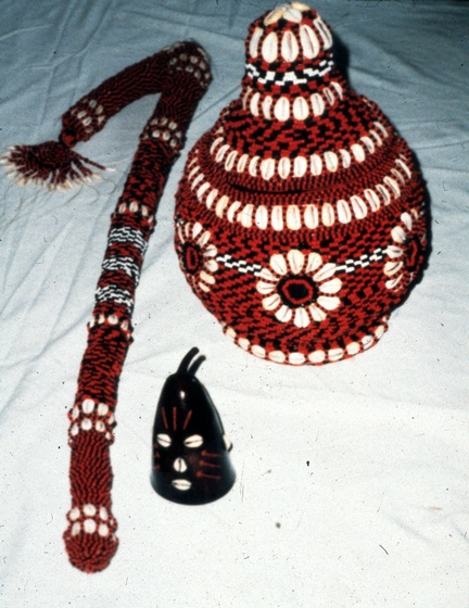Religious objects, crafted by Felipe García Villamil and used in rituals as part of the house altars in Santeria, courtesy National Endowment for the Arts