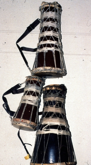 A set of *batá* drums built by Felipe García Villamil, courtesy National Endowment for the Arts