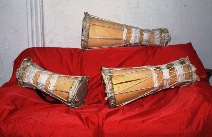 A set of *batá* drums (not consecrated) built by Felipe García Villamil, courtesy National Endowment for the Arts
