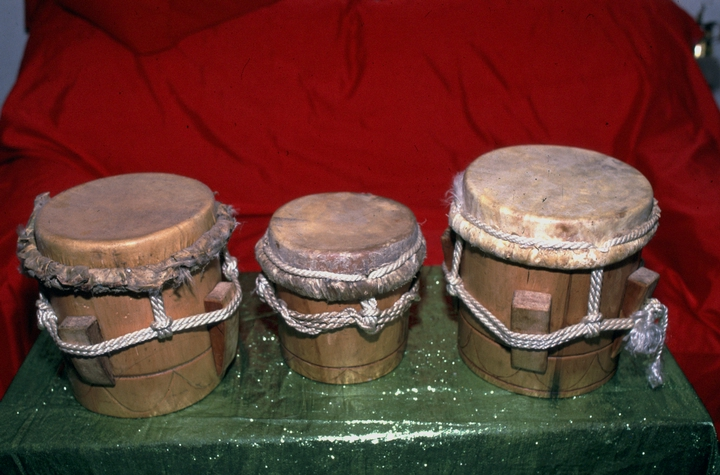 *Abakúa* drums crafted by Felipe García Villamil, courtesy National Endowment for the Arts