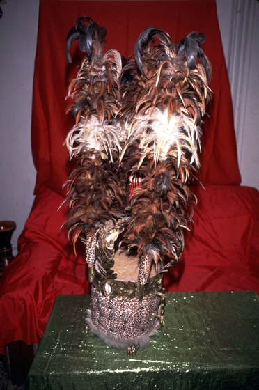 Decorated *abakua* drum by Felipe García Villamil, courtesy National Endowment for the Arts