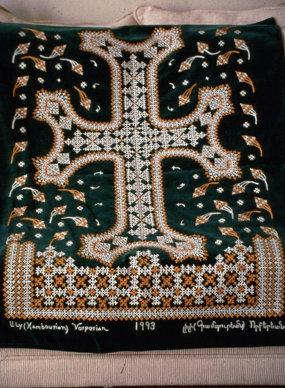 Marash embroidery, courtesy Lily Vorperian and National Endowment for the Arts