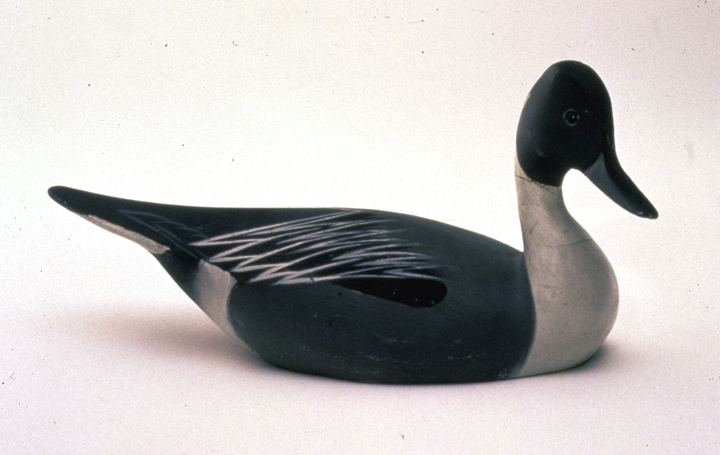 Fintail Drake decoy by Lem Ward, photograph by Michel Monteaux, courtesy Museum of International Folk Art (a unit of the Museum of New Mexico)