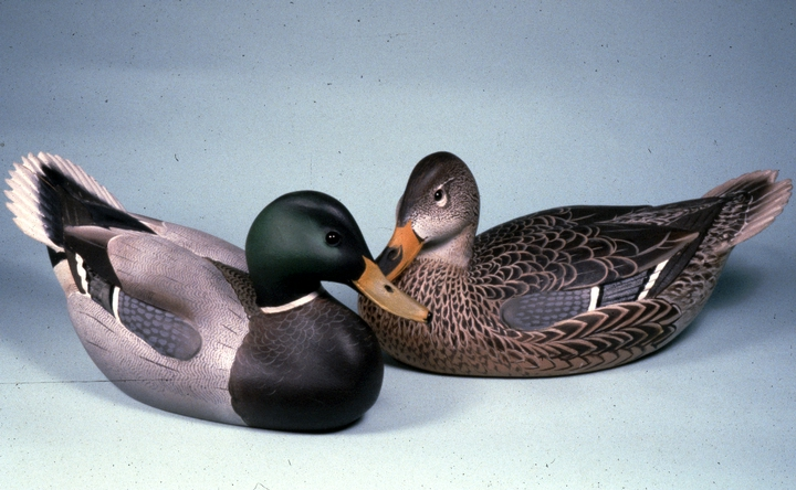 Decorative Mallard decoys by Lem Ward, courtesy National Endowment for the Arts