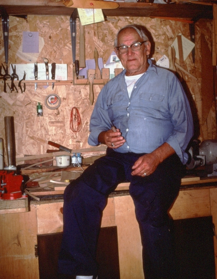Newton Washburn, Bethlehem, New Hampshire, August 1990, photograph by Jane C. Beck, courtesy Vermont Folklife Center