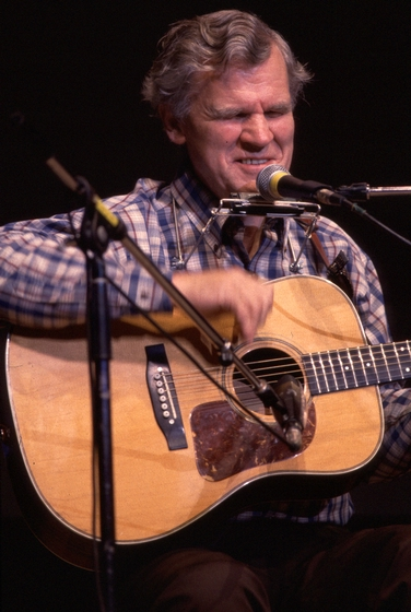 Arthel 'Doc' Watson, a guitarist and singer from North Carolina, played a variety of music in regional bands until the folk revival of the 1960s helped him to attain a national audience. Courtesy National Endowment for the Arts