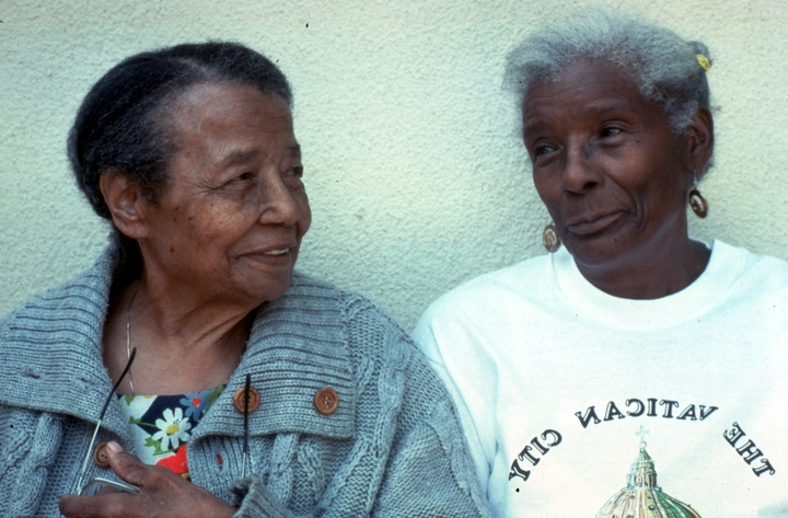 Gussie Wells and Arbie Williams, 1991 National Heritage Fellowship Ceremonies, courtesy National Endowment for the Arts