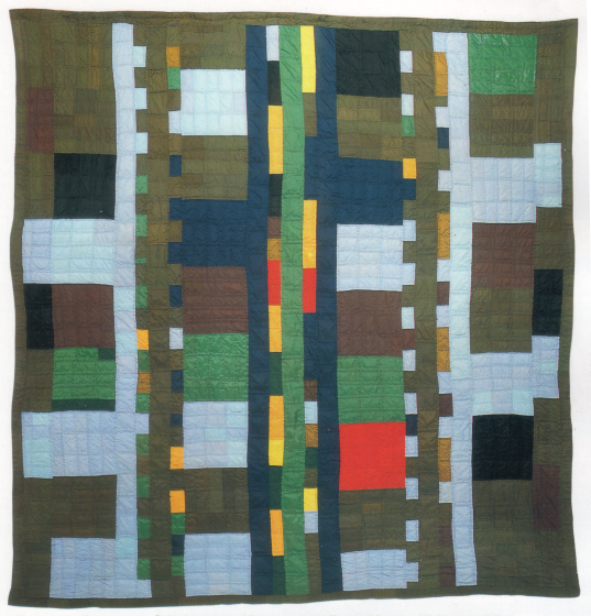 'Compound Strip,' pieced by Gussie Wells, Oakland, California, 1984, quilted by Willia Ette Graham, Oakland, California, 1984, courtesy Eli Leon