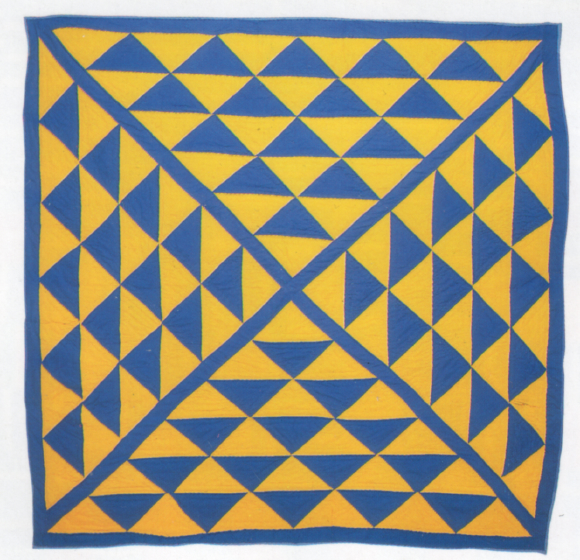 'Pyramid,' pieced by Gussie Wells, Oakland, California, 1984, quilted by Bessie Moore, Oakland, California, 1985, courtesy Eli Leon