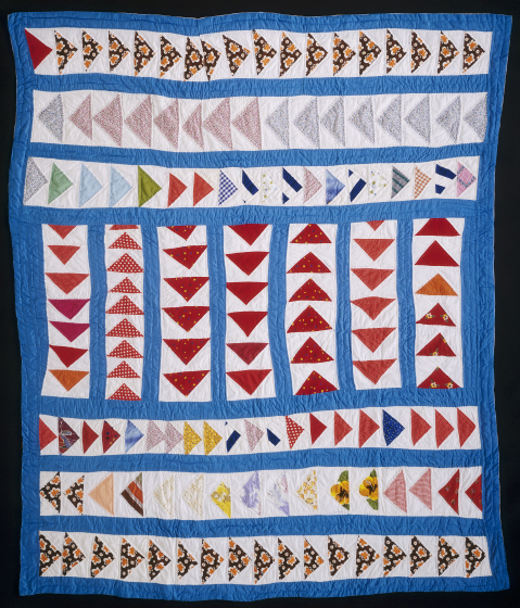 'Wild Goose Chase,' pieced by Gussie Wells, 1984, Oakland, California, quilted by Willia Ette Graham, Oakland, California, 1985, courtesy Eli Leon