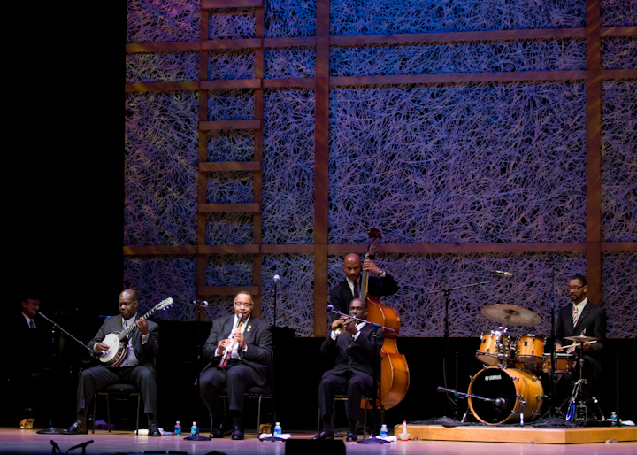 Michael White and his band, 2008 National Heritage Fellowship Concert, Bethesda, Maryland, Photograph by Alan Hatchett