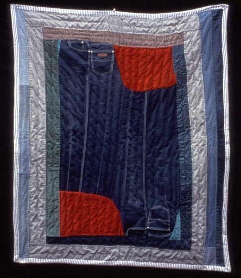 "'Swingdinger,' pieced by Arbie Williams, quilted by Willia Ette Graham and Johnnie Wade, 64"" x 55"", 1991, courtesy National Endowment for the Arts"