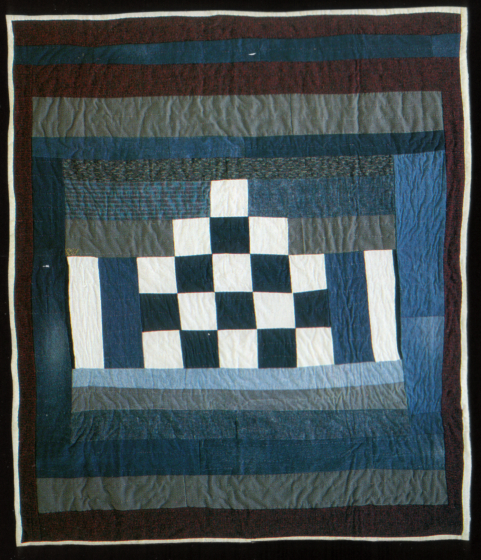 "'One Step,' quilted by Arbie Williams, quilted by Rose R. McDowell, Oakland, California, 1992, 86""x73"", courtesy Eli Leon"
