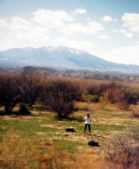 Chesley Goseyun Wilson on his land on Highway 60 across from Calva and three miles west of Bylas, Arizona, San Carlos Apache Reservation, San Carlos, Arizona. Courtesy Chesley Goseyun Wilson and National Endowment for the Arts