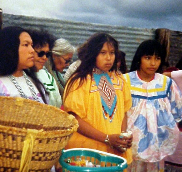 The Goseyun Family at theSunrise Dance Ceremony on the San Carlos Apache Reservation, San Carlos, Arizona. Courtesy Chesley Goseyun Wilson and National Endowment for the Arts