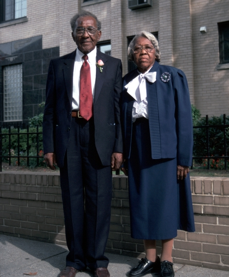 Elder Roma Wilson and his wife, Ruth, Washington, D.C., 1994, photograph by Alan Govenar