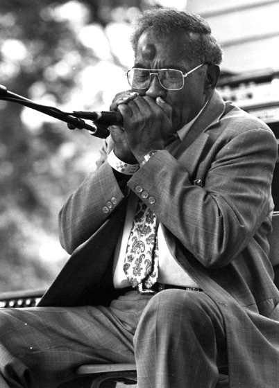 Elder Roma Wilson, Chicago Blues Festival, Chicago, Illinois, 1994, photograph by Jack Vartoogian