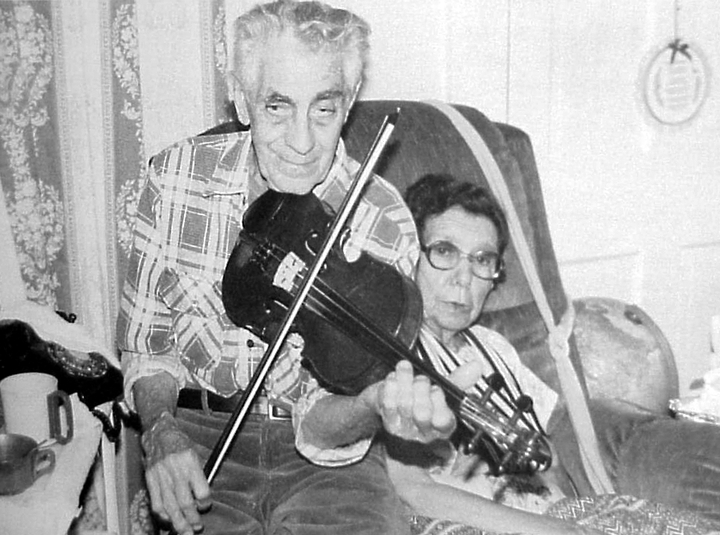 Melvin and Etta married in 1930. Etta played the banjo and guitar and called square dances in earlier years. 1991, photograph by Susan Leffler, courtesy *Goldenseal* magazine