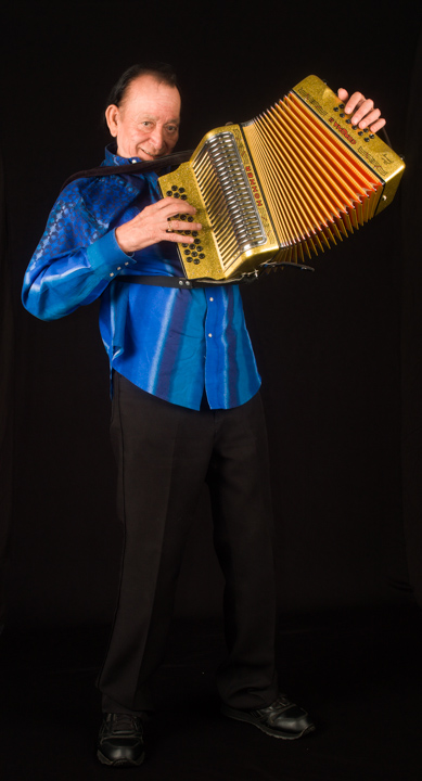 "Born into a family of *conjunto* musicians, Leonardo ""Flaco"" Jiménez has led the way in expanding *conjunto* music to new audiences both in the United States and worldwide. Washington, D.C., 2012, photograph by Alan Govenar"