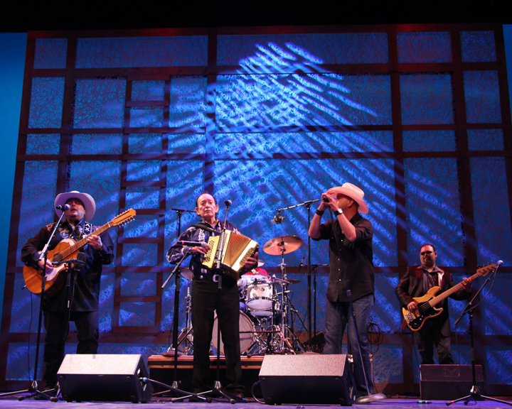 "Leonardo ""Flaco"" Jiménez performing with his band at the 2012 National Heritage Fellowship Concert, Washington, D.C., courtesy National Endowment for the Arts"