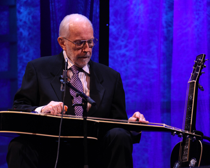 Mike Auldridge performing at the 2012 National Heritage Fellowship Concert, Washington, D.C., photograph by Michael G. Stewart