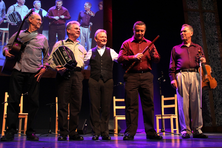 Séamus Connolly and his band taking a bow at the 2013 National Heritage Fellowship Concert, Washington, D.C., photograph by Michael G. Stewart